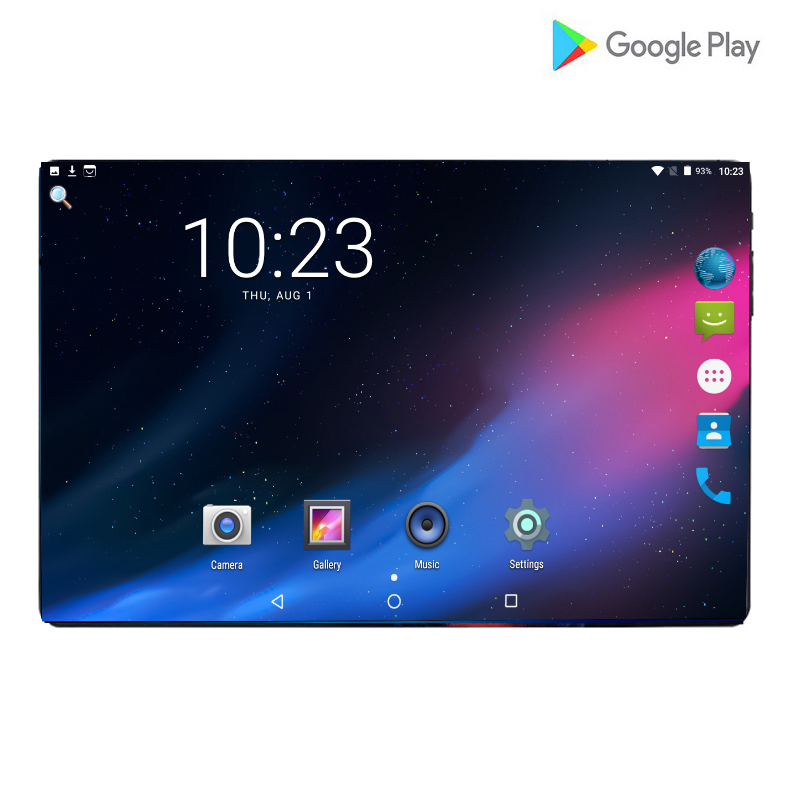 New 2.5D Glass Screen GPS Tablets Android 9.0 Octa Core Ram 6GB ROM 64GB 10 Inch 8MP Dual SIM Tablet PC Wifi GPS Phone Pad 10.1