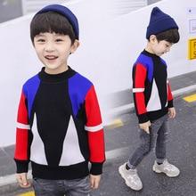цены на Christmas Sweater Boy 2019 Autumn Winter Children Sweaters Cotton Patchwork Boy's Sweaters for 2-6 Years Kids Wear Clothing  в интернет-магазинах