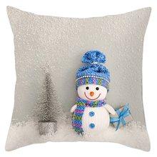 Скандинавский Рождественский декоративный чехол для подушки