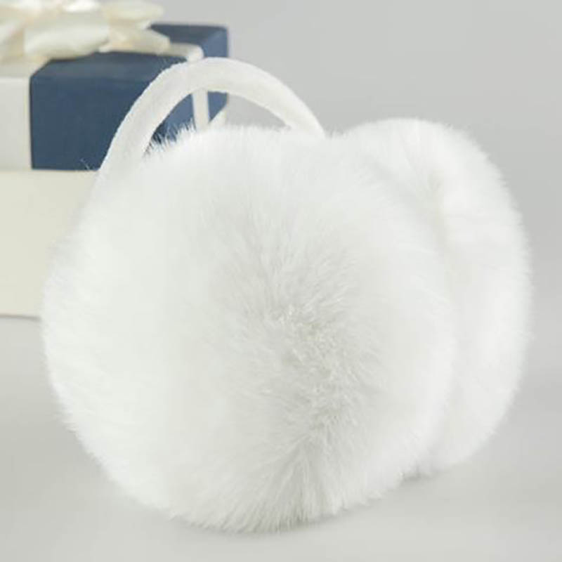 Calymel Winter Ear Muffs Fur Warm Ladies Earmuffs Cute Plush Solid Color Earflap Winter Accessories For Women