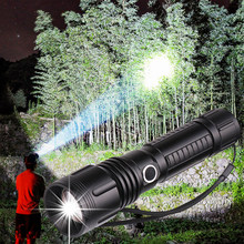 6000lumens powerful flashlight XLamp xhp70.2 led torch Zoomable 5modes xhp70 xhp50 18650 or 26650 battery Best Camping, Outdoor(China)