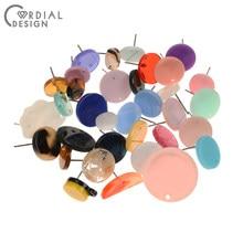 Design cordial 200 pces jóias acessórios/colorido/forma redonda/brincos parafuso prisioneiro/diy fazendo/feito à mão/brincos descobertas & componentes