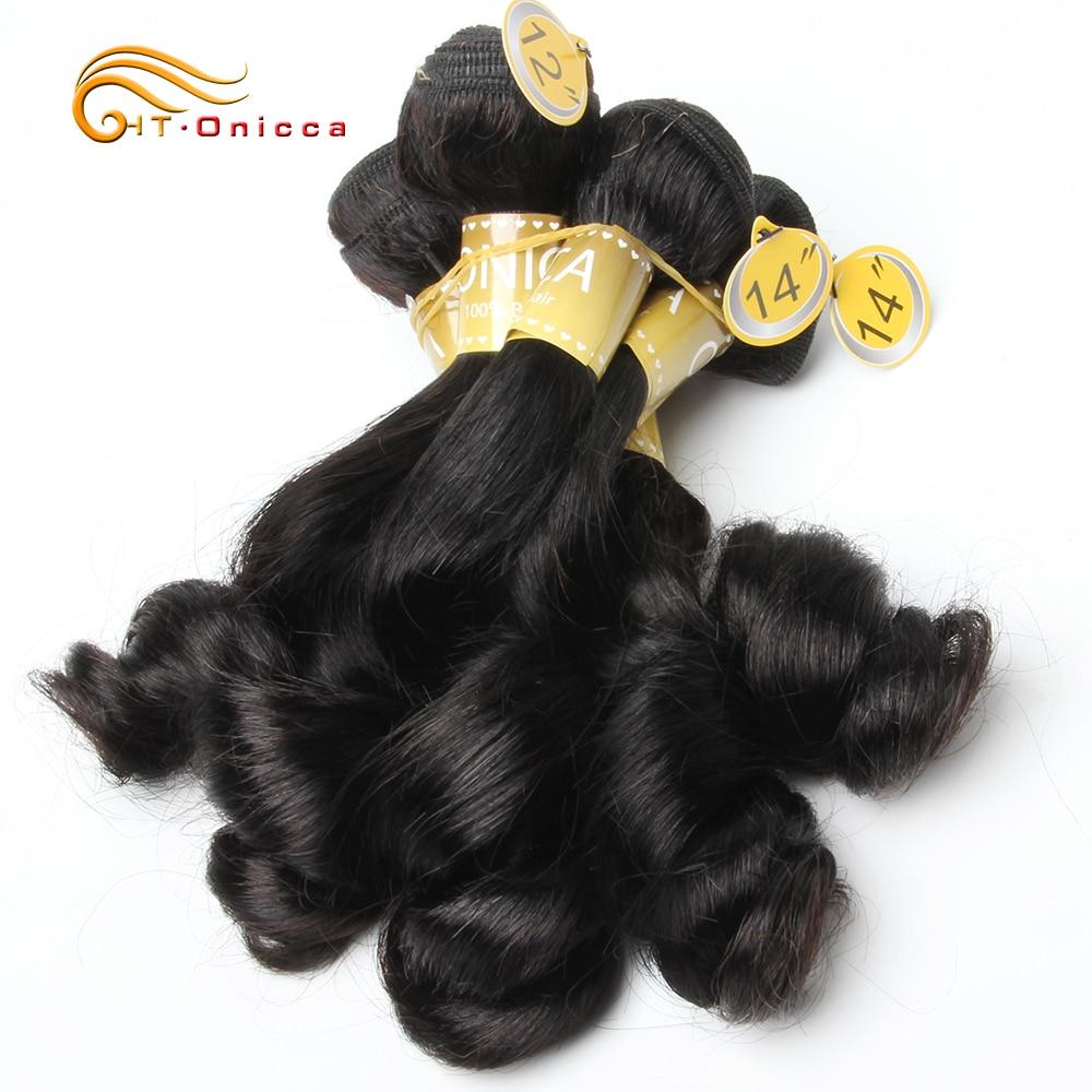 Funmi Hair Double Drawn 5pcs/Lot Egg Curl  Hair  Flexi /Pissy /Pixie Spring Curl   Bundles 2