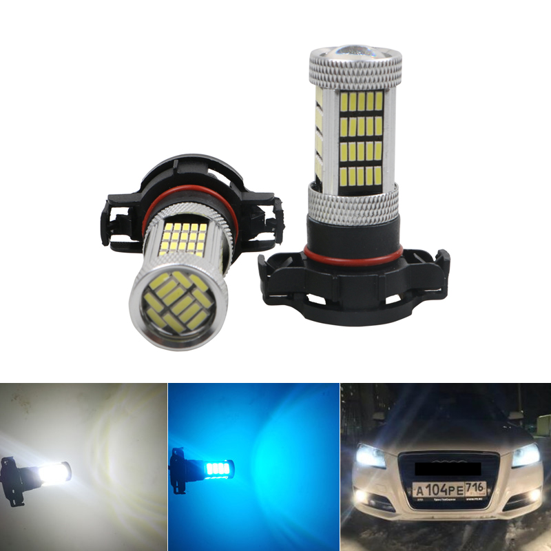 2pcs DRL Led FOR AUDI A3 8P 2008+ WHITE H16 4014 92smd Ps19w SIDELIGHT DRL BULB LED CANBUS ERROR FREE White Ice Blue Yellow
