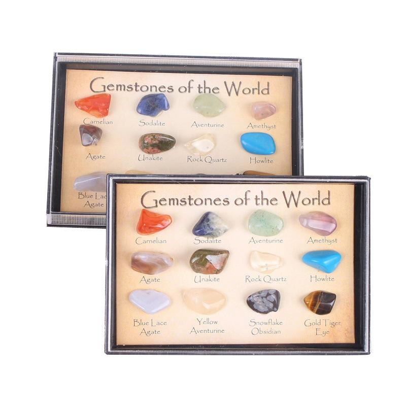 Natural crystal ore specimens 12 kinds of mineral rough natural geological teaching materials