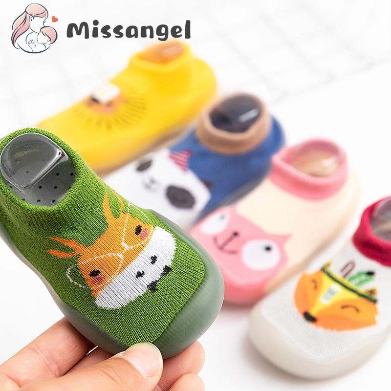 Children Anti-slip Shoes Newborn Baby Girl Cotton Non-slip Floor Socks Baby Boy Rubber Sole Cartoon Indoor Socks Infant Shoes 1