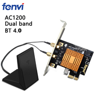 Fenvi Desktop 1200Mbps Wireless Dual Band Bluetooth 4.2 Pcie Wifi Adapter 8260AC Wifi Netwerkkaart 802.11ac 2.4G/5Ghz