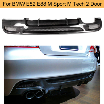 1 Series For E82 E88 carbon fiber Car Rear Bumper Lip Spoiler Diffuser for BMW E82 E88 M Sport 2 Door 2007 - 2013 Convertible image