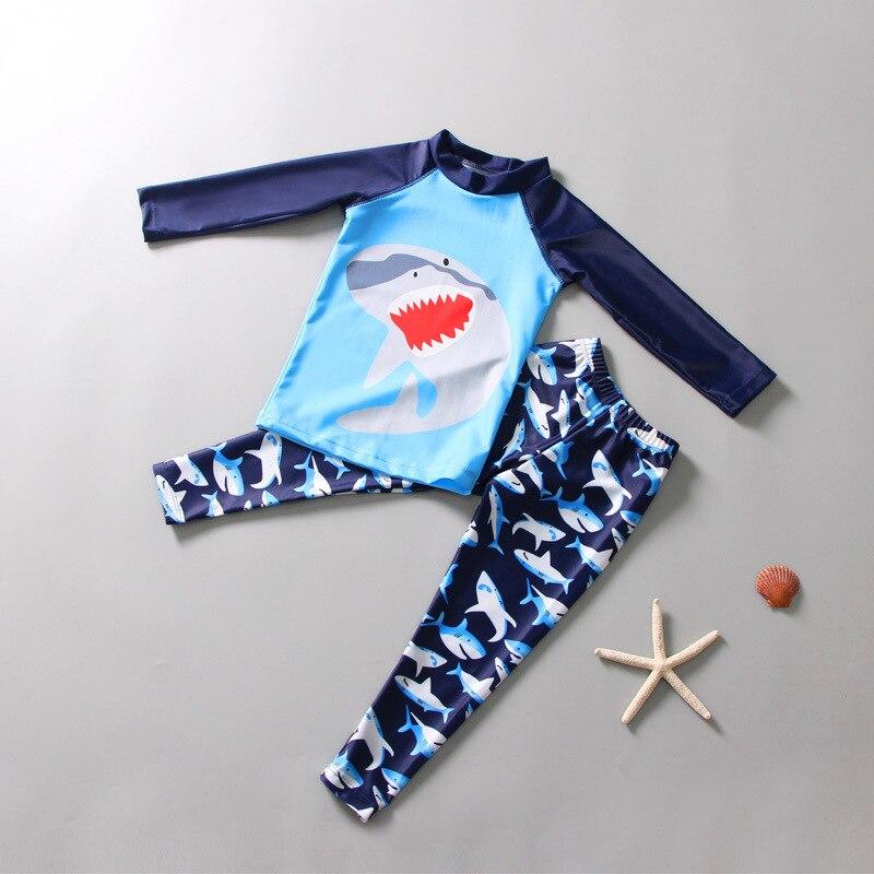 AliExpress Diving Suit Children BOY'S Split Type Snorkeling Suit Long Sleeve Sharks Big Boy Sun-resistant Swimming Suit