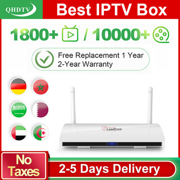 цена на Arabic IPTV leadcool 1 Year QHDTV Smart tv box Leadcool Android 8.1 Box IPTV Spain Arabic Belgium no app included TV BOX