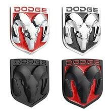 1 pçs 3d metal ram cabeça adesivos para dodge ram 1500 calibre challenger carregador de carro grade dianteira traseiro tronco emblema emblema emblema