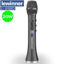 Lewinner atualização L 698D profissional 20w portátil sem fio bluetooth karaoke microfone alto falante com grande potência para cantar/reunião