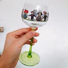 Kawai alsácia estilo minion vidro de vinho nórdico licor de vidro barra verde vidro minion