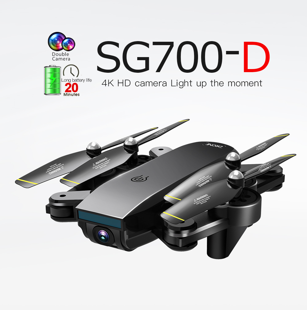 SG700D RC Drone 4K with Camera GPS HD Foldable Profesional RC Dron Quadrocopter Drone 1080P for Kids Toys FPV 20Mins Height Hold