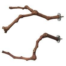 Animais de estimação papagaio pássaro em pé vara de madeira uva pólo pássaro cockatiel periquito poleiros mordida garra moagem brinquedo gaiola pássaro acessórios