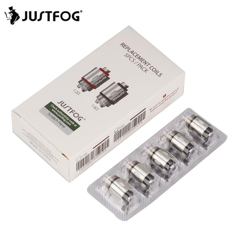 100pcs/lot JUSTFOG Q16 Q14 P16A P14A C14 Kit Atomizer Coil Head 1.2ohm 1.6ohm Replacement Coil Electronic Cigarette Tank Core