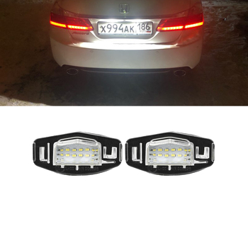 For Honda Accord Civic Sedan/Hatchback City MK4 Odyssey For Acura TL RL TSX ILX MDX SMD White Led License Plate Lights No Error image