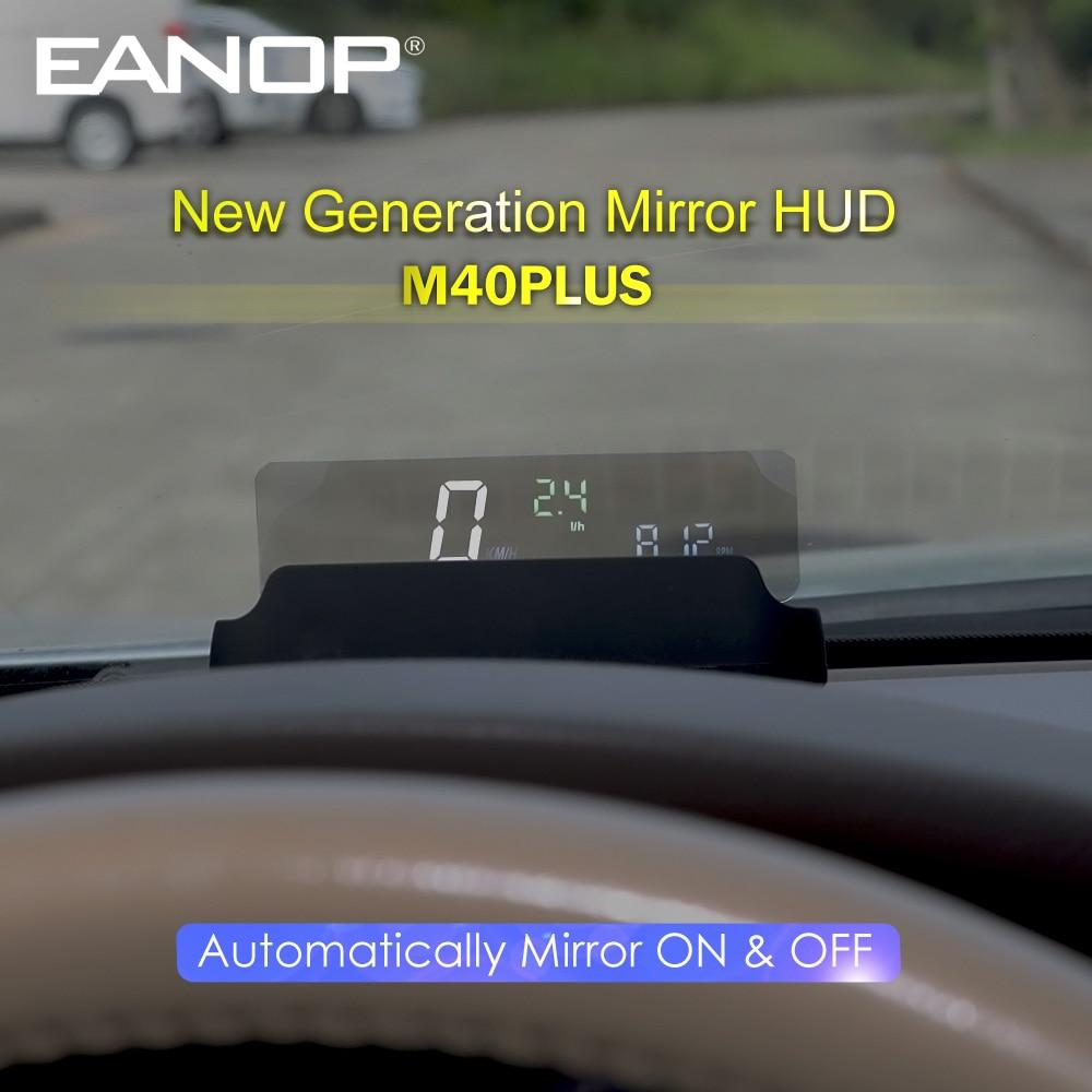 EANOP M40PLUS зеркало HUD проекционный дисплей OBD2 Winshield скорость измерения оборотов в минуту проектор скорости потребление масла приложение для ав...