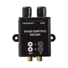 Car Home Amplifier RCA Gain Level Volume Knob Booster Audio Stereo Bass Control