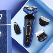 4 в 1 Мужской электробритва для всего тела моющийся станок для бритья перезаряжаемый триммер для бороды Профессиональный электробритва