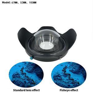 Image 2 - BGNing Tauchen Fisheye Weitwinkel Objektiv 0,7 Verstärkung M52/M67/M 100 für Sony A6 TG5 TG6 Kamera objektiv Haube 100m/300ft Wasserdicht