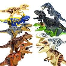 Dinosaurios del Mundo Jurásico, figuras de dinosaurios, bloques de construcción, Tiranosaurio Rex i-rex, pterosauro, tiranosaurio, montar piezas, juguete