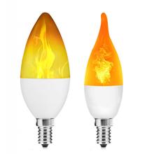E27 światło z efektem płomienia żarówka 3 tryb migotanie żyrandol żarówka z efektem płomienia dla domu Bar na świeżym powietrzu Party Decor tanie tanio NoEnName_Null Other Flame Effect Light Blub HOLIDAY none AC 85-265V 1800K 36x129mm