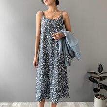 2021 moda feminina verão leopardo impressão vestido longo vestidos sem mangas feminino elegante chiffon vestido