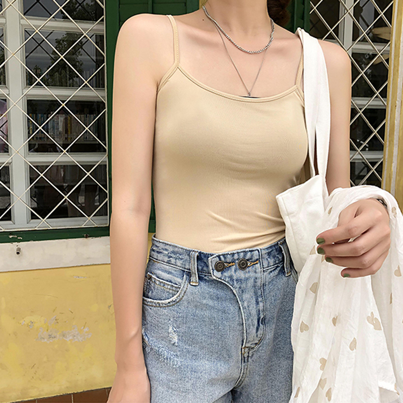 Korean Sexy Women camisole tee Solid color Shirt Harajuku dropshipping bf vintage Girl punk album ins tops t shirt kpop clothes image