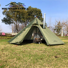 3-4 Person Ultralight Pyramid Tent Camping Teepee Tent Outdoor Winter Backpacking Awnings Shelter Tent for Birdwatching Cooking