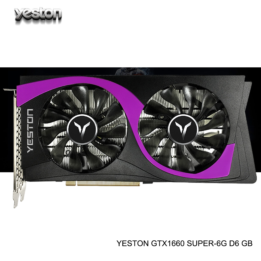 Yeston GeForce GTX 1660 SUPER GPU 6GB GDDR6 192 bit Gaming Desktop computer PC Video Graphics Cards support PCI-E X16 3.0 image