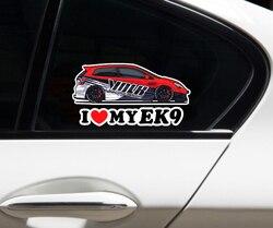 Автомобильный Стайлинг наклейка автомобиль грузовик окна велосипед мотоцикл наклейка бампера для футболки с надписью «I LOVE MY EK9 Civic волк 14x7....