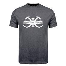 Camisetas de manga corta de algodón para hombre, ropa informal de héroes Del Silencio, con Logo de la banda Del Rock, Hip-Hop, LH-266