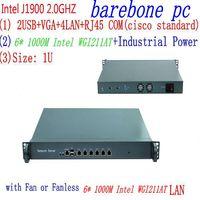 J1900 2.0GHZ 1U Rack Firewall Router Network Server 6*1000M LAN intel WGI211AT J1900 2.0GHZ Support ROS Mikrotik PFSense
