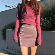 Белый корейский вязаный свитер для женщин водолазка с длинным