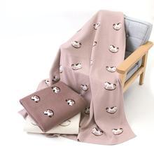 Baby Blankets 100%Cotton Knitted Super Soft Infant Kids Boys Girls Swaddle Wrap Blanekts Cartoon Towels 100*80cm Newborns Quilts
