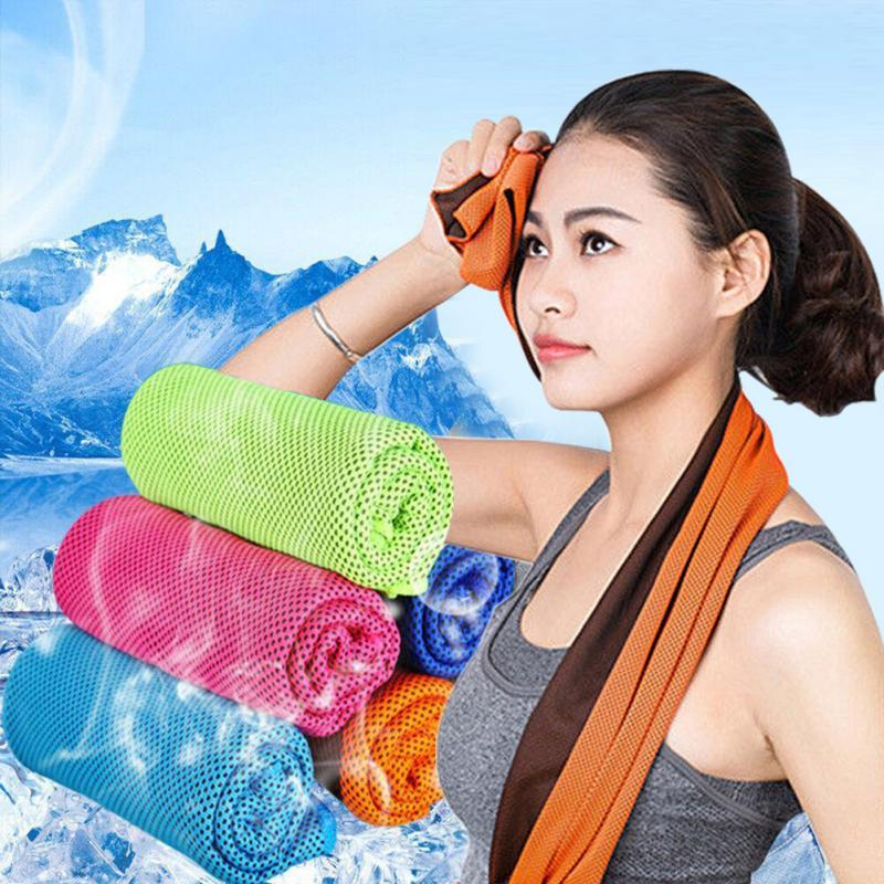 1PC Rapid Cooling Sports Towel Microfiber Fabric Quick-Dry Ice Towels Outdoor Gym Fitness Climbing Yoga Riding Swimming Towel