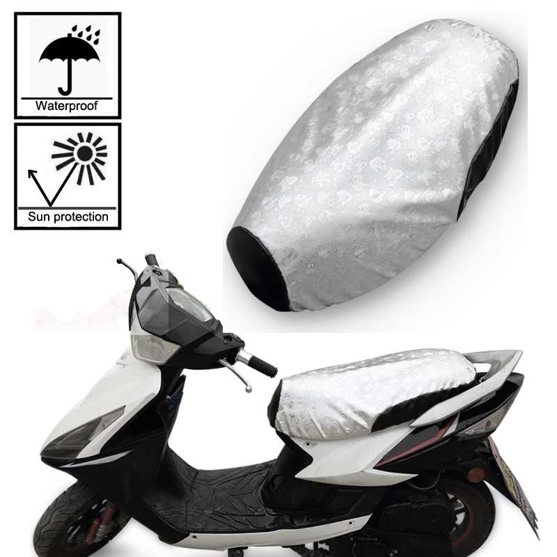 Waterproof Motorcycle Scooter E-bike Seat Cover Sun Proof Non-slip Scooter Sun Pad Heat Insulation Cushion Cover