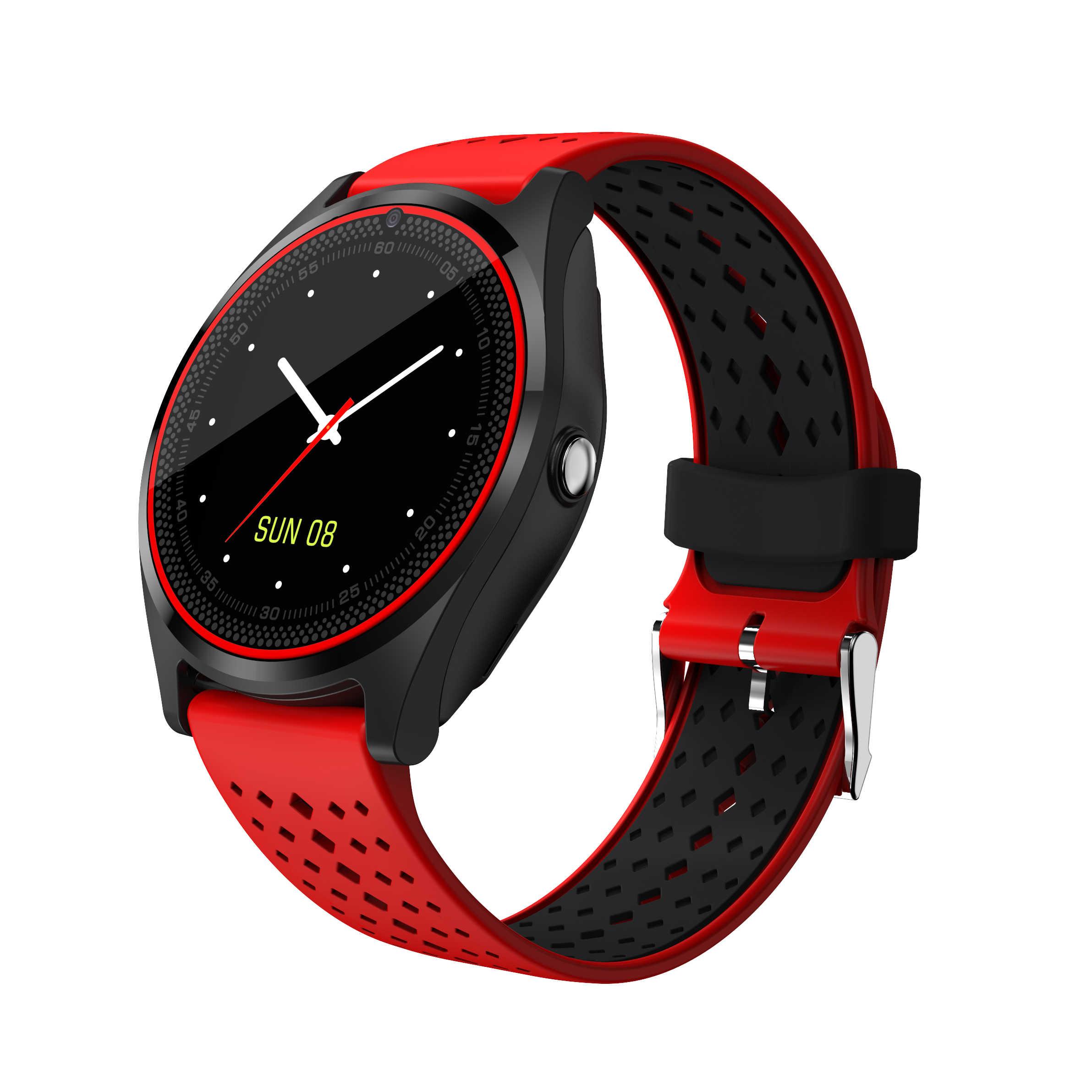 V9 Smart Watch Mendukung Kamera Bluetooth Smartwatch SIM Kartu Jam Tangan untuk Pria Wanita Anak Wearable Perangkat Olahraga Watch
