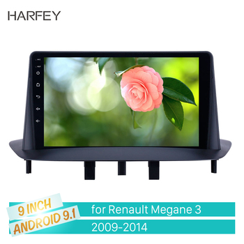 Harfey Android 9.1 GPS Car Radio 9 inch HD Touchscreen for Renault Megane 3 2009 2010 2011 2012 2013 2014 support Carplay SWC image