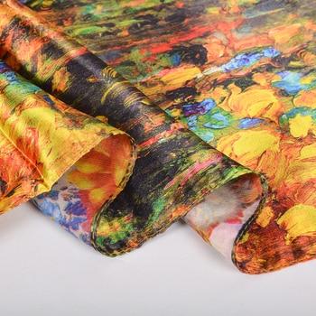 BYSIFA Coffee Gold Satin Silk Scarf New Women 100 Silk Feeling Long Scarves Shawls
