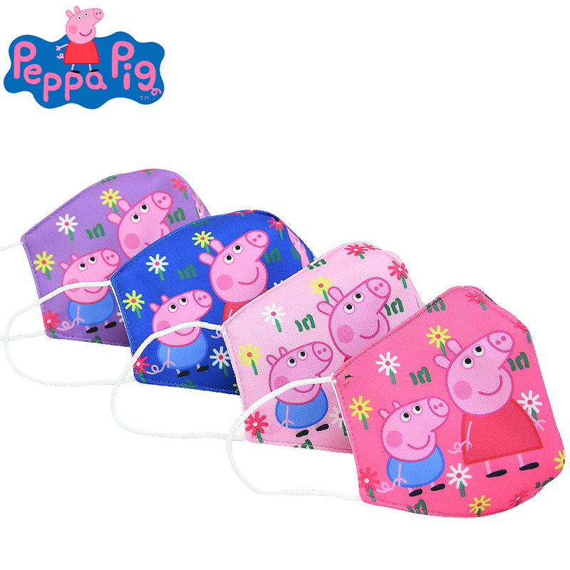 Peppa Pig Masks Dustproof And Smog Cartoon Anime Figure Fashion Breathable Kid Pure Cotton Face Mask Party Toys Birthday Gift