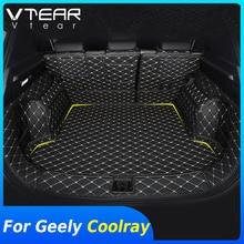 Vtear Für Geely Coolray SX11 hinten stamm rahmen styling matte innen anti kick abdeckung dekoration boden wasserdicht zubehör teile