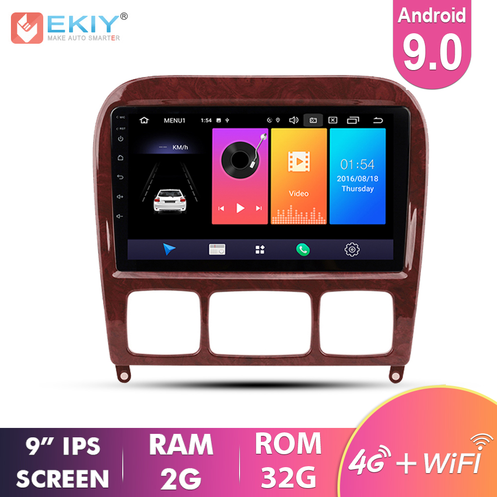 EKIY 2.5D Car Multimedia <font><b>For</b></font> <font><b>Mercedes</b></font> Benz S Class W220 S280 S320 S350 S400 S430 <font><b>S500</b></font> S600 S55 1998-2005 Android 9.0 Auto Radio image