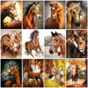 HUACAN Pictures By Numbers Horse DIY Hand Painted Painting By Numbers Animals Gift Home Decoration Wall Art