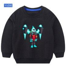 Kids sweatshirt Ben10 Boys girl Sweatshirt hoodie white Cotton Pullover Top New print Tee Autumn  Long Sleeve T-shirt
