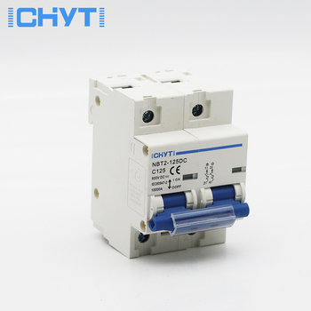 2P 100A 125A DC 600V Circuit breaker MCB FOR PV System battery main switch 1 modular 18mm width new design 80a 100a 125a 10ka breaking capacity mcb miniature circuit breaker 10ka breaker automatic