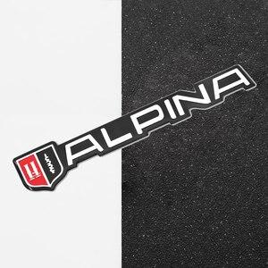 3D стайлинга автомобилей Стикеры наклейка Металл ALPINA эмблема сзади значок задней двери для BMW M3 M5 X1 X3 X5 X6 E46 E39 f30 f10 f34 аксессуары