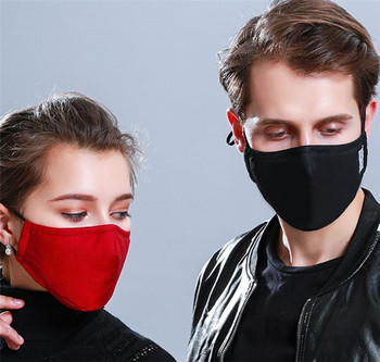 PM2.5 Washable Mouth Mask Black Anti Dust Mask Reusable windproof effortless breathable Face Muffle Bacteria Flu Respirator