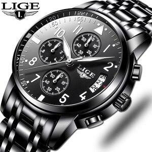 Image 1 - Mens นาฬิกาควอตซ์กันน้ำธุรกิจนาฬิกา LIGE แบรนด์หรูผู้ชาย Casual กีฬานาฬิกาชาย Relogio Masculino relojes hombre